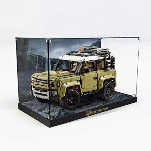 Giplar Acrylic Display Case Compatibile con Lego 42110 Technic Land Rover Defender, Acrilico Vetrina Scatola di Acrilico - A Prova di Polvere Teca (Non Incluso Modello)
