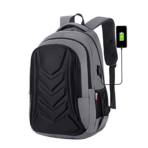Bdesign Men Women Casual School Bags Travel Laptop Bag Boy Backpack,with USB Charging Port Water Resistant Computer Daypack for, 32 * 15 * 46Cm (Color : Gray)