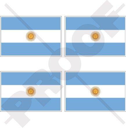 argentine argentin Drapeau national 5,1 cm (50 mm) bumper-helmet en vinyle autocollants, Stickers x4