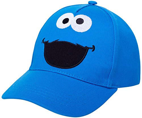 Sesame Street Toddler Cotton Baseball Cap – Elmo, Cookie Monster, Big Bird, Oscar The Grouch, Size Ages 2T-4T, Cookie Monster