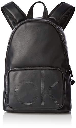 Calvin Klein Herren Ck Up Round Backpack Rucksack, Schwarz (Black), 18x42x28 cm