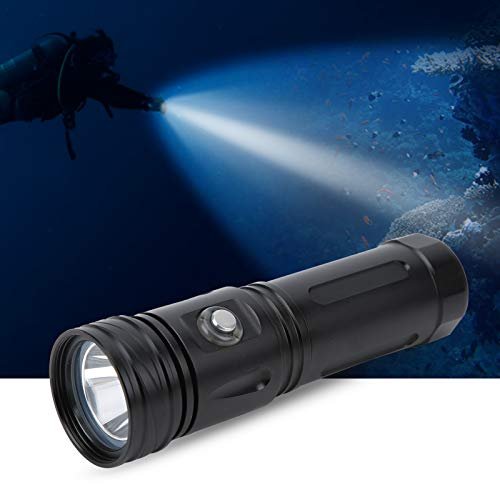 Linterna de buceo IPX8 Linterna Luz LED de buceo 1600lm 6000K-6500K 80M Profundidad de buceo