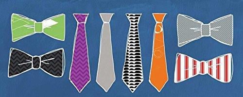 Feeling at Home Kunstdruck-auf-Papier-cm_28_X_70-Woods-Linda-Ferien-Bild-Poster-Gemetric-Krawatten-Vati-Vatertags-Windsor-Knot-Fliege