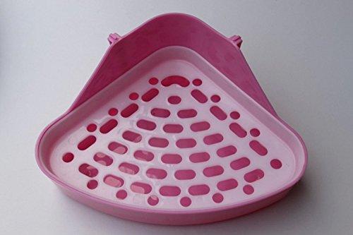 Lenhart Triángulo orinal entrenador esquina basura caja de cama mascota cacerola para pequeños animales/conejo/Guinea Pig/Galesaur/hámster/Ferret (color al azar)