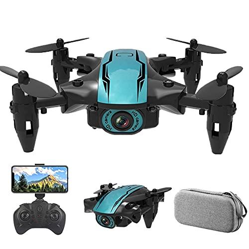 JJDSN Drone con cámara 4k para niños Adultos 5G WiFi HD Video en Vivo GPS 50x Zoom Retorno automático Sígueme portátil (1 batería de Repuesto + Estuche de Transporte) (Color: 1080P HD)