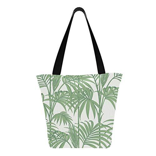 Julien Macdonald Honolulu Wallpaper Palm Green 11 × 7 × 13 pulgadas, lavable a máquina, resistente, de poliéster, reutilizable, bolsas de supermercado, plegables, reutilizables, reutili