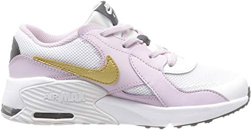 Nike Unisex-Kinder Air Max Excee (PS) Sneaker, White/Metallic Gold-Ice Lilac-Off Noir, 35 EU