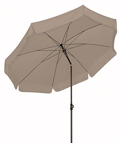 Doppler Absolut wetterfester Gartenschirm Sun Line III 200 UV-Schutz 50 Plus, Farbe Greige