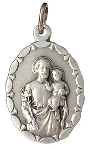 MEDAILLEN DER SCHUTZHEILIGEN - 100% Made in ItalyOVALE MEDAILLE DES HEILIGEN JOSEPH (BRAUT DER GESEGNETEN JUNGFRAU MARIA) -