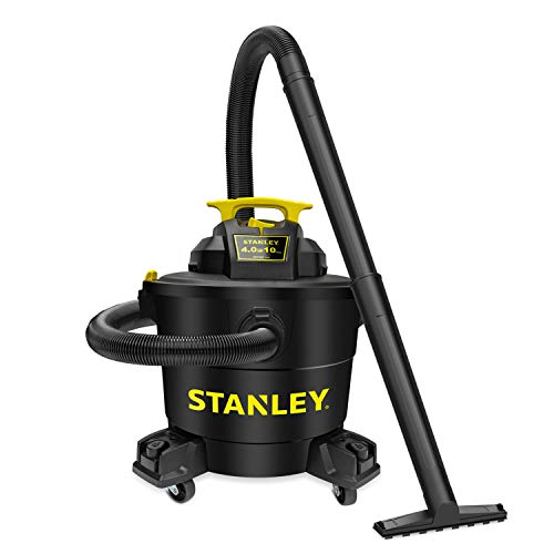 Product Image of the Stanley Wet/Dry Vacuum SL18191P, 10 Gallon 4 Horsepower 16 FT Clean Range Shop Vacuum, Ideal for Home/Garage/Laundry Rooms with Vacuum Attachments, Strong Suction Large Capacity Multiple Accessories