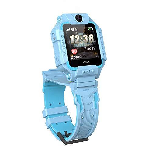 Smart Watch for Kids Teléfono Impermeable GPS Tracker, Touchscreen Kids Watch Podómetro SOS Compatible, Niños Niñas Anti-perdidas Regalo para niños, Reloj Inteligente, Monsteramy