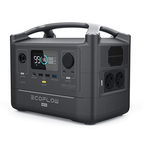 ECOFLOW Central eléctrica portátil RIVER600 Max, batería de litio de 576 Wh...