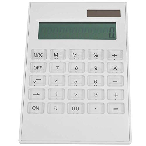 Calculadoras, calculadora de plástico Duradera de Doble Potencia, Color Blanco para Estudiantes de Escritorio