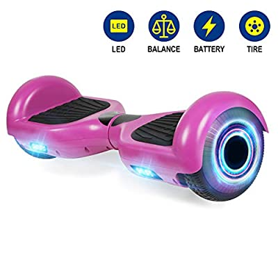 YHR Hoverboards with LED Light UL2272 Certified 6.5 inch Self Balancing Hoverboard for Kids Adults