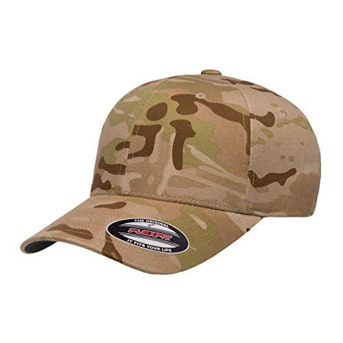 Flexfit Unisex-Erwachsene Cap, Baseball-Kappe, Multicam Arid, S/M