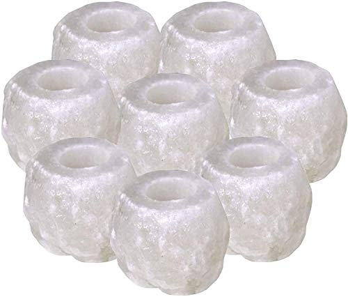 (Pack Of 8) Salt Candle Holder 100% Authentic Natural Himalayan Crystal Rock...