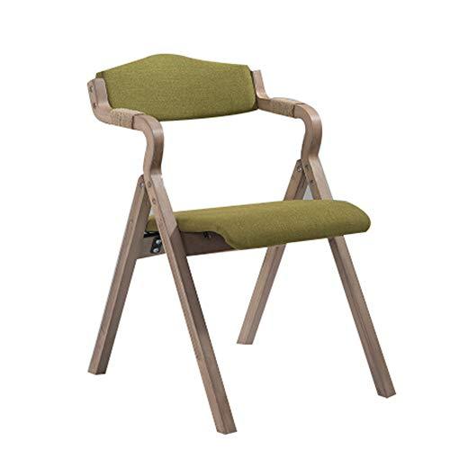 Folding chair Silla de Comedor Plegable Respaldo Tela café Restaurante Estudio sillón sillón Simple Estructura de Silla Plegable para el hogar Estable y fácil de almacenar