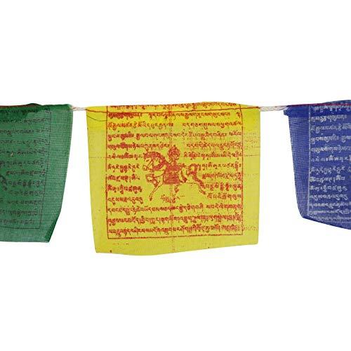 Freak Scene Tibetische Gebetsfahnen - 10 cm breit - Bunte Schrift - 5 Rollen Set