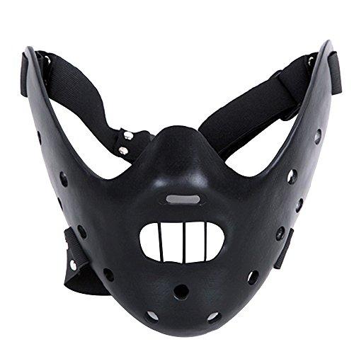 Alxcio Halloween Maske Sammleredition Film Theme Harz Maske für Maskerade Kostüm Partei Cosplay Geschenk ( Hannibal Lector, Schwarz )