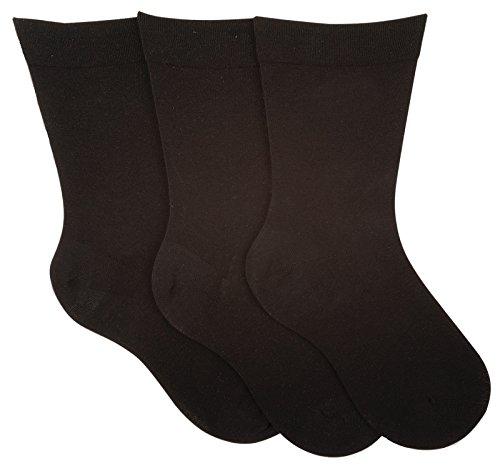 socksPur HERREN GESUNDHEITS SOCKEN mit EXTRA weitem BUND 3er- BÜNDEL auch in Übergrößen 47-50 (47-50, 26915: SCHWARZ)