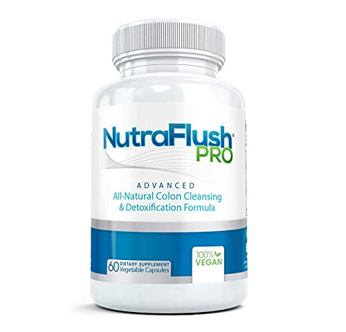 NUTRAFLUSH PRO - The #1 Complete Colon Cleanser and Full Body Detox Cleanse Supplement - 60 Capsules