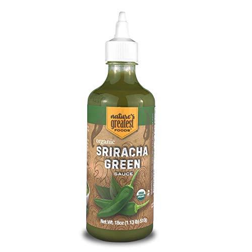 Nature's Greatest Foods, Organic Green Sriracha Hot Sauce, Vegan, Gluten Free, 18 Ounces