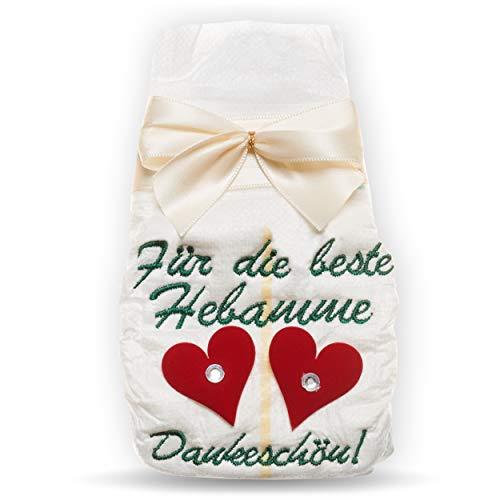 Pañales bordados con tanjo para la mejor matrona, 2 niños, gracias por dos corazones, para los padres, mamá y papá, regalo para nacimiento