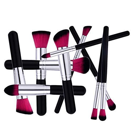 SKYUV Juego de brochas de maquillaje10 piezas maquillaje profesional cepillo Fundación mezcla cara de ojos Corrector Líquido Maquillaje, polvos, crema,pinceles de maquillaje