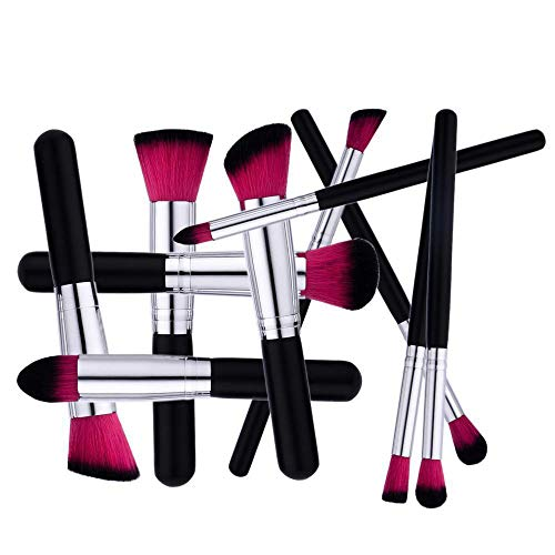 SKYUV Juego de brochas de maquillaje10 piezas maquillaje profesional cepillo Fundación mezcla...