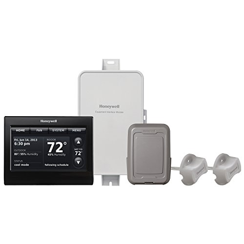 Honeywell, Inc. YTHX9421R5101BB Prestige 2-Wire IAQ Kit with high definition color touchscreen black front/black sides thermostat with RedLINK technology