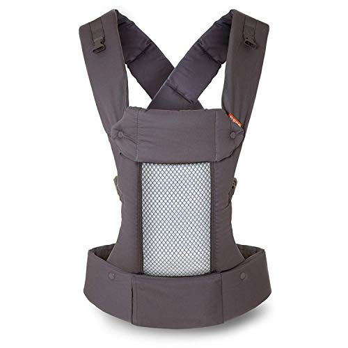 Beco 8 Baby Carrier – Supportive and Adaptable Carrier for Babies from 7 – 45 lbs with Convertible Cool Mesh Panel Cool Dark Grey