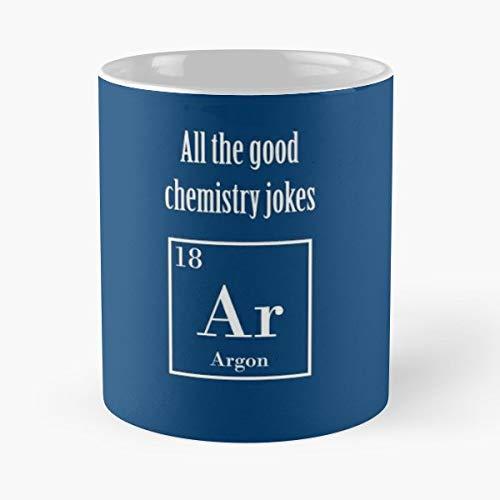 Joke Chemistry Physics Academic Element Periodic Table Blue Tardis Argon Ar Hydrogen - Best 11 oz Kaffee-Becher - Tasse Kaffee Motive