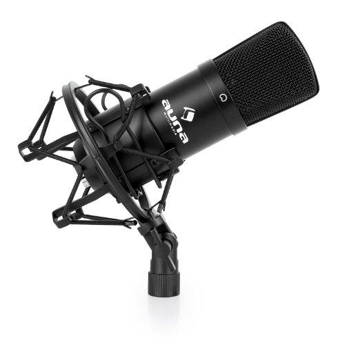 Auna HK-Mic-900-S - Micrófono de condensador (de estudio, conector USB), color plateado
