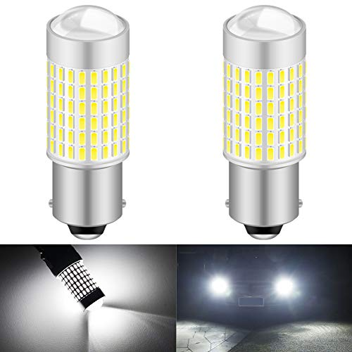 KaTur 1156 P21W 7506 BA15S LED-lampa hög effekt 3014 chips extremt ljusa 3000 lumen 6500K Xenon vit ersättning för backup omvänd bromsvans, blinkersljus, (paket med 2)