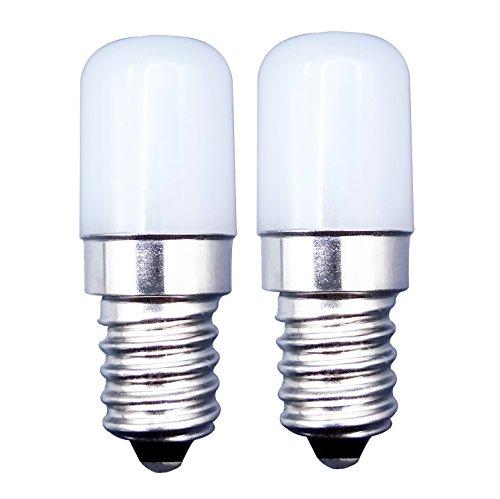 MZMing [2 Stück] Schrauben E14 LED Lampe 2W Kühlschrank Glühbirne Ersetzen 20W Halogen Lampe 6000K Kühles Weiß 180lm-Geringe Hitze Verwendet für Kühlschrank/Dunstabzugshaube/Nähen Maschine