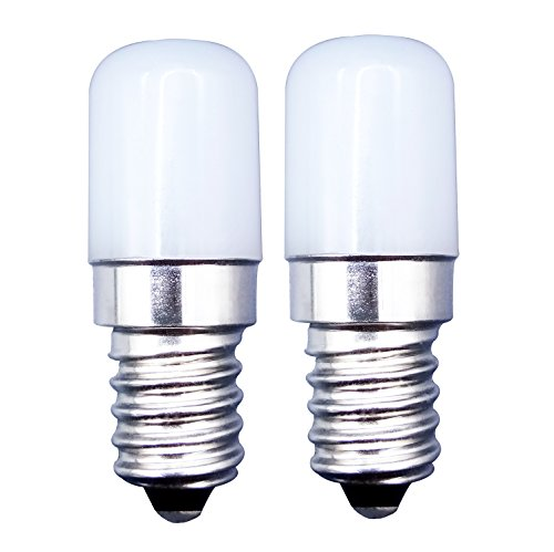 MZMing [2 Piezas] E14 Tornillos Pequeños LED Bulb 1.5W Bombillas Reemplaza 15W Bombilla Halógena-6000K Blanco Frío 180lm de-no Regulable Bajo en Calorías para Usado para Refrigerador