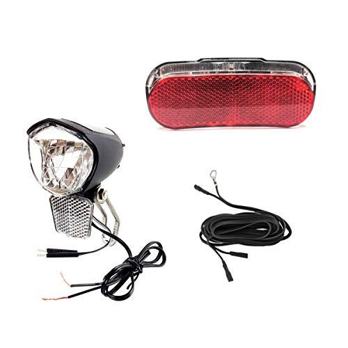 Resul-Axa Fahrrad LED Beleuchtung Umrüstset 70 Lux vorne Standlichtfunktion und Helligkeitssensor