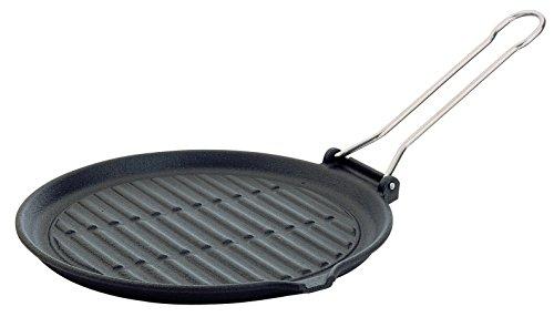 ILSA Bistecchiera ghisa dietella Tonda cm26 Pentole e Preparazione Cucina, Nero, 26 cm