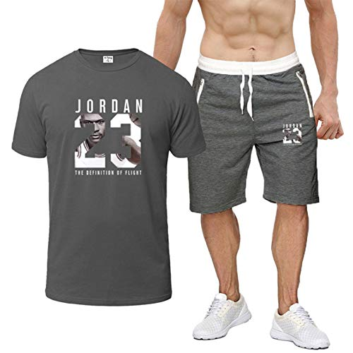 Camisa de Manga Corta para Hombres Trajes de Camiseta Deportivos Impresos, Ropa Deportiva de Fitness de Ocio, Correr de Manga Corta Corriendo Deportes S-2XL XXL-18