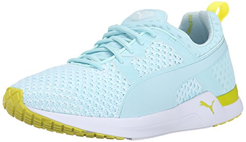 PUMA Women's Pulse XT Knit Women's Training Shoe, Clearwater/Sulphur, 10.5 B US