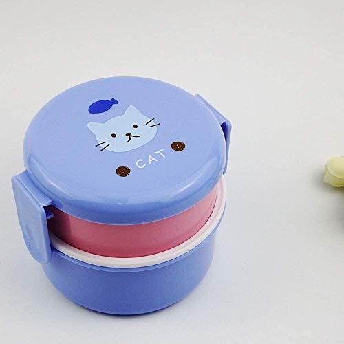 CHENCfanh Fiambrera Rectángulo de la Fruta portátiles Infantil, Almuerzo Estudiante Box, Comida rápida Comida Fiambrera, Cubierto niño de Almacenamiento de Alimentos de contenedores, con aisl