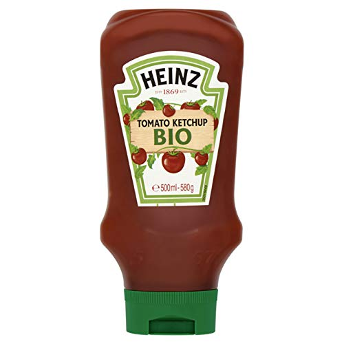 Heinz Tomato Ketchup dall'alto verso il basso 580g organico - ( Prezzo unitario ) - Heinz tomato ketchup top down bio 580g