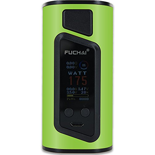 MightySkins Skin Compatible with Sigelei Fuchai Duo-3 Vape (2-Battery) – Solid Lime Green | Protective, Durable, and Unique Vinyl wrap | Easy to Apply, Remove, and Change Styles | Made in The USA