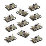 20 unids M6 Chimenea U Tuerca Spire Clips Velocidad Fijaciones Metal Parachoques U Clips Zincificación Panel de Fijaciones para Vehículos Motor Electrodomésticos