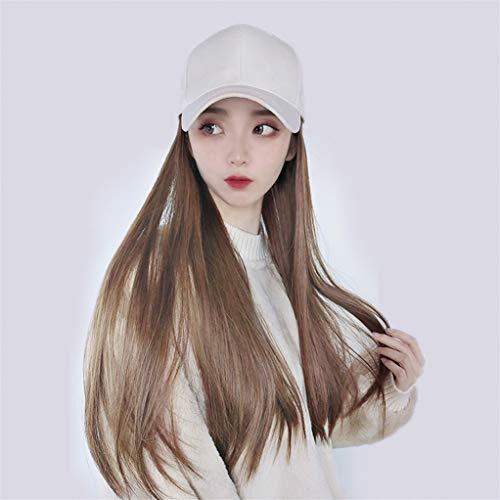 Hat Wig Baseball Cap Hair Extension Wig High Temperature Fiber Long Straight Hair Suitable For Women Of All Skin Tones YSM9077-B-2-30