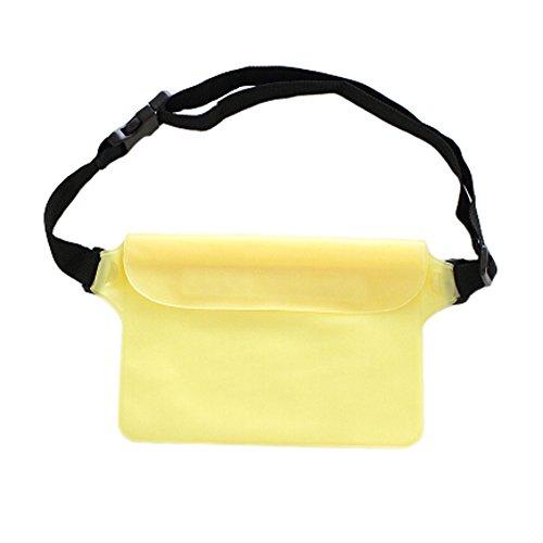 Pochette imperméable unisexe Fanny Pack taille sac pour plage/piscine/Randonnée – Jaune