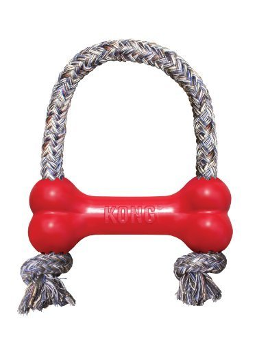 KONG Goodie Bone with Rope Dog Toy, Extra Small, Red by KONG