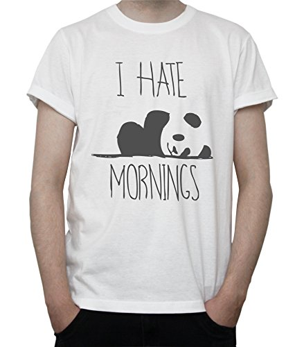 DreamGirl I Hate Mornings Panda Cute Graphic Mens T-Shirt