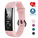 Fitpolo Fitness Tracker, Activity Tracker Watch with Heart Rate Monitor Waterproof Smart Fitness Wristband with Step Counter, Calorie Counter, Pedometer for Kids Men Women(Pink)