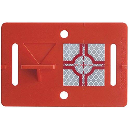 Vermessungsplakette RS31 | rot | selbstklebend | zur schnellen Positionierung mit gängigen Meßgeräten